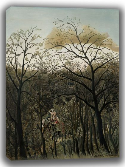 Rousseau, Henri: Rendezvous in the Forest. Fine Art Canvas. Sizes: A4/A3/A2/A1 (003547)